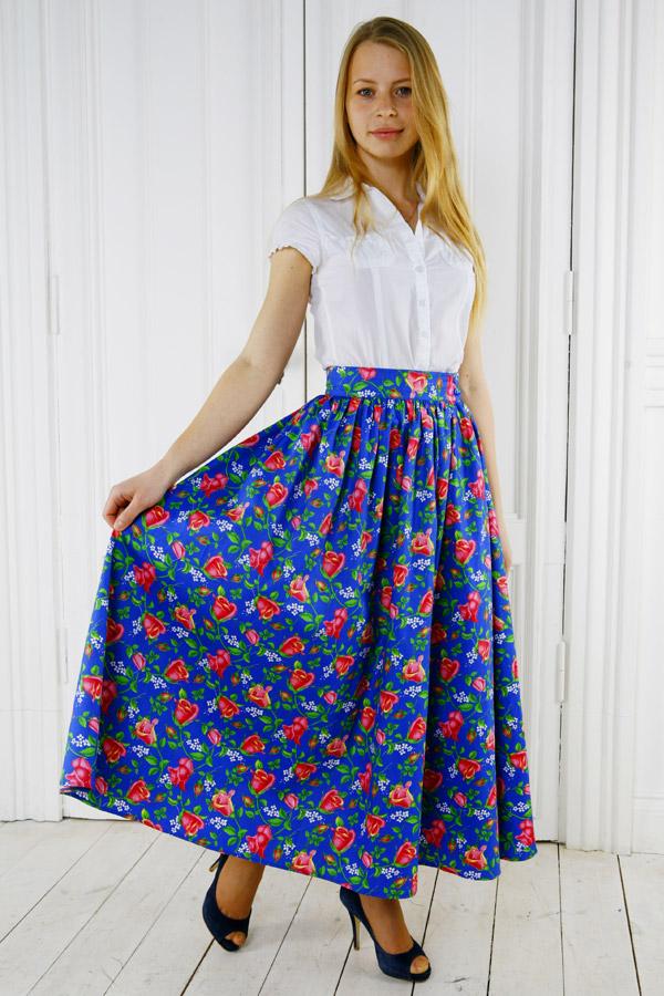 Летняя юбка «Дикая роза»