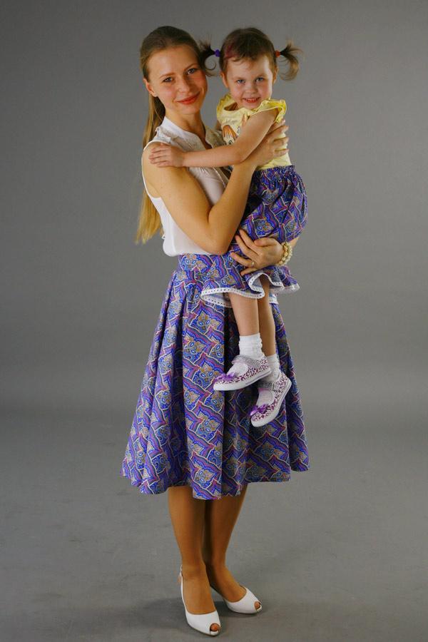 """Юбка для мамы из комплекта """"Мозаика"""""""