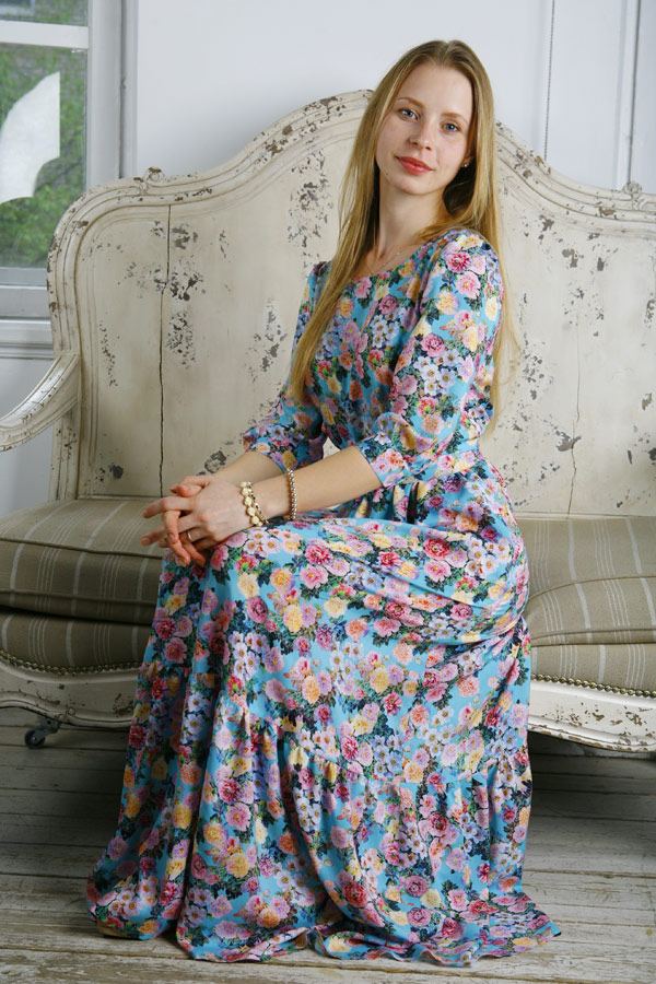 """Прекрасное платье в пол """"Вальс цветов"""""""