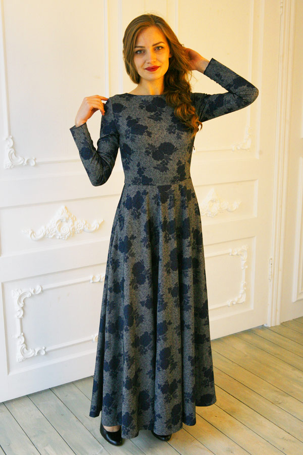 """Длинное платье """"Вечерний вальс"""""""