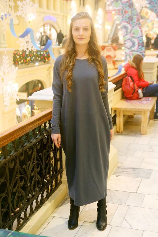 """Платье кокон """"Уютное"""""""