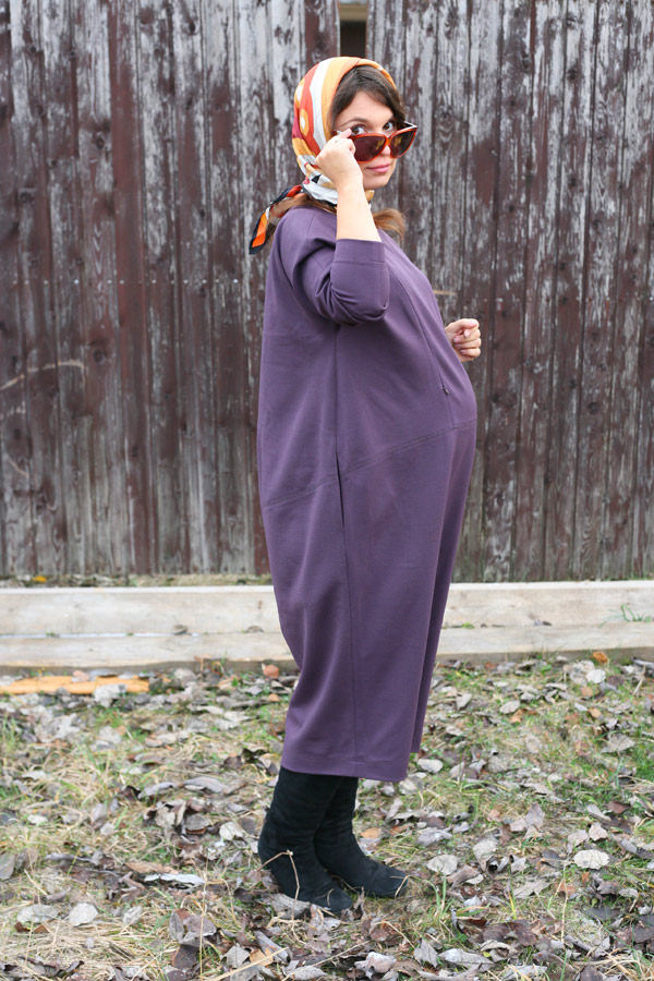 """Платье кокон """"Уютное"""" для беременных и кормящих"""