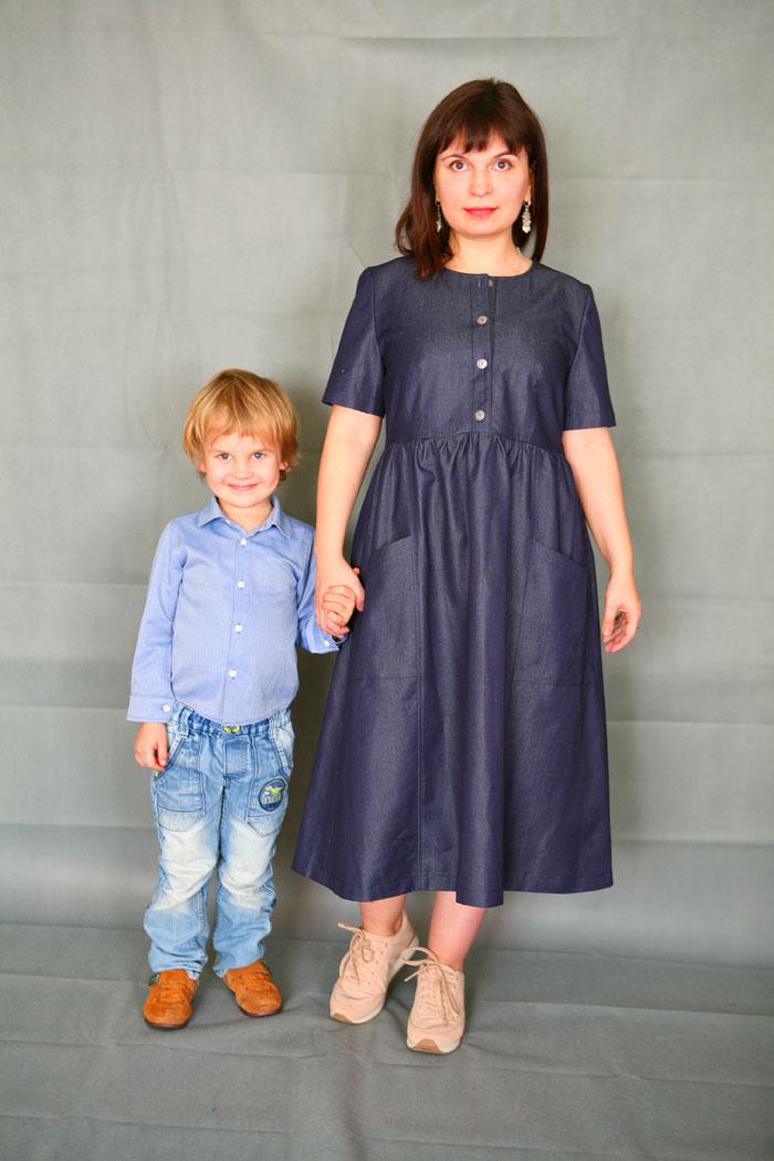 Джинсовое платье Черничные ночи