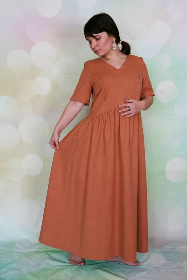 Льняное платье Фея