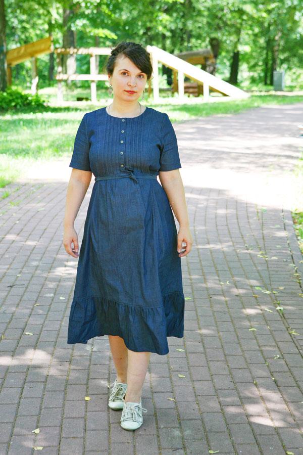 Джинсовое платье Мадлен