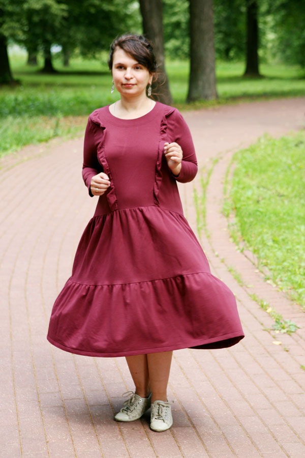 Платье из футера Чудо