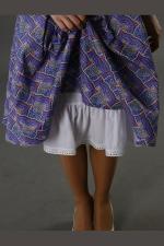 Нижняя юбка из штапеля (белая) №2