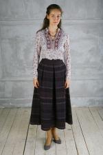 Шерстяная миди юбка