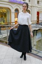 Теплая шерстяная юбка