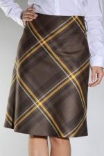 Демисезонная миди юбка EF372D