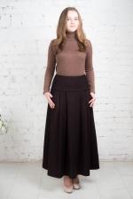 Зимняя макси юбка