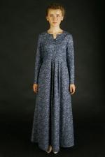 Джинсовое макси платье