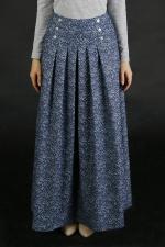 Джинсовая юбка в пол