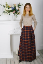 Длинная теплая юбка