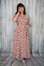 Платье с цветочным узором Летнее