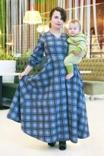 Теплое платье Кэмбридж из фланели